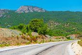 Empty Road In A Mountainous Area