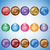 Set Of Glass Christmas Balls