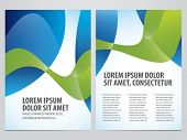 business flyer, brochure vector template