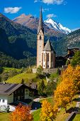 Church in Cortina, autumn, Italy