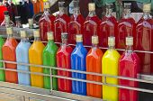 Colorful Homemade Fruit Juice Drink In Asia Market, India