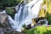 Mae Klang Waterfall In Chiang Mai Province, Doi Inthanon Thailand