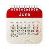 calendar 2015 in vintage style - june