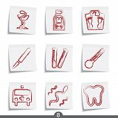 Post it icon series 8 - medical