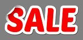 Vector Sale Bent Sticker