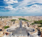 Rome Italy. Famous Saint Peter's Square in Vatican