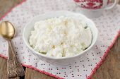 stock photo of curd  - Homemade Cottage Cheese  - JPG