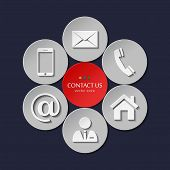 Vector set of contact and communication icons.