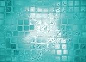 Azure Abstract Square Shape Background.