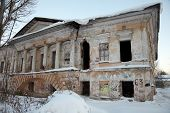 Desolated Classical Architecture Building, Vologda, Russia