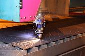 stock photo of machine  - The laser cutting installation CNC - JPG