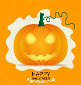 foto of happy halloween  - Happy Halloween design background with Halloween pumpkin - JPG