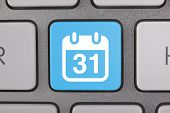Calendar Icon on Keyboard