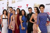 LOS ANGELES - OCT 10:  East Los High Cast at the ALMA Awards Arrivals 2014 at Civic Auditorium on October 10, 2014 in Pasadena, CA