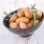 baked potato and herbs