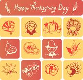 Happy Thanksgiving Day icons