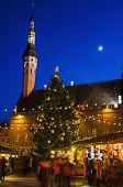Tallinn, Estonia -january 05: People Enjoy Christmas Market In Tallinn On January 05, 2014 In Tallin