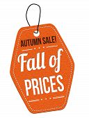 Autumn Sale, Fall Of Prices Orange Leather Label Or Price Tag