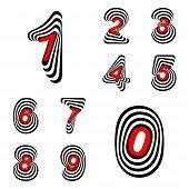 Design Numbers Set