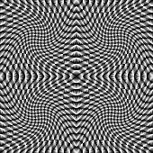 Design Monochrome Movement Illusion Checkered Background