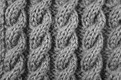 Closeup Of Cable Knitting Stitch