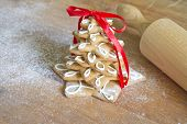 Christmas gingerbread tree  with rolling pin