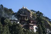 stock photo of hermit  - Houses of hermits retired from the world to pray at 4500m for 6 years - JPG