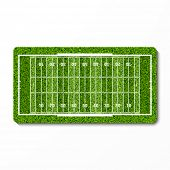 Green grass football field. Vector.