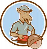 Donkey Concrete Saw Consaw Circle Cartoon