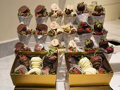 Milk and Dark Chocolate Dipped Strawberries by Godiva