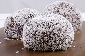 Rum Balls With Grated Coconut