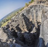 picture of ellora  - Ellora caves unseco archaeological site in India - JPG
