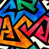 picture of graffiti  - grunge colored graffiti seamless texture  - JPG