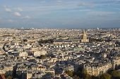 Paris, View Of The City In The Autumn Evening