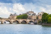 Cite Island And Pont Neuf, Paris, France