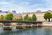 Pont Des Arts, Bridge Over The River Seine In Paris