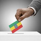 pic of ethiopia  - Black male holding flag - JPG