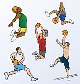 Basketball Players Dunking