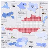Dot And Flag Map Of Republic Of Austria Infographic Design