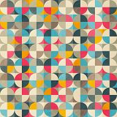 Vintage Circles Seamless Pattern