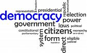 word cloud - democracy