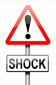 picture of outrageous  - Illustration depicting a sign with a shock concept - JPG