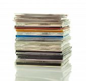 Stack Of Cds In Boxes