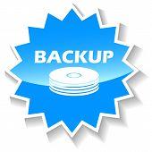 Backup blue icon
