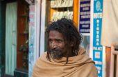 Indian Sadhu On The Street In Rishikesh