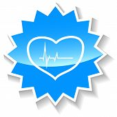 Heartbeat blue icon