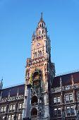 stock photo of munich residence  - New city hall of Munich and Mariensaeule - JPG