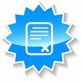 Bad document blue icon
