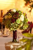 White Rose and red Calla Lily Bouquet