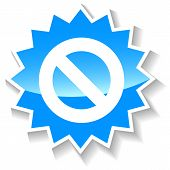 picture of bans  - Ban web blue icon on a white background - JPG